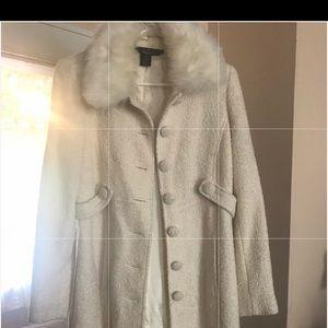 Arden B coat EUC with faux fur collar medium